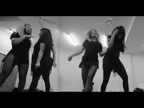 Beyoncé  Nicki Minaj dance rehearsal