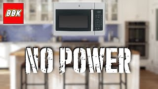 How to Fix a GE Over the Range Microwave Stopped Working - Will Not Power On - No Power JVM3160RF3SS
