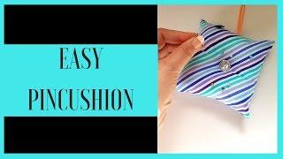 DIY Pin Cushion | Sewing A Pin Cushion With A Sewing Machine