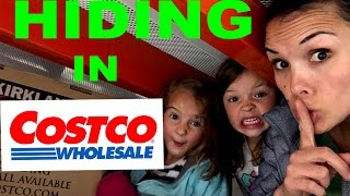 HILARIOUS Hide And Seek   Family Sardines Game In Costco Warehouse