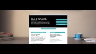 "CV Marketing ""Zen"" - by Mycvfactory"