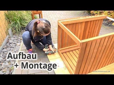 Mülltonnenbox CUBUS  -  Aufbau + Montage  -  Praxistest