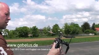 WLToys V913 RC Heli Crash und Flugtest von Gobelus.de