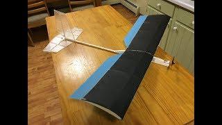 Ultralight RC Balsa Slow Flyer - Build And Maiden Flight!