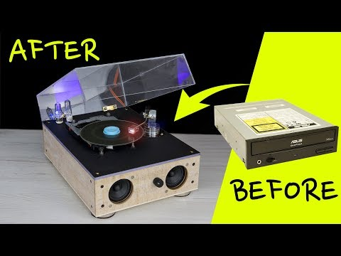 How to turn PC CDROM into Vintage Record Player Style