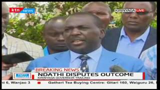 Governor Joseph Ndathi accuses the Jubilee party of favouring Anne Waiguru's gubernatorial bid