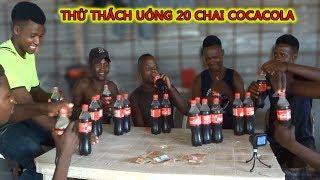 Cuộc Sống ở Châu Phi - Vlog #13 :  Thử Thách 7 Anh Uống 20 Chai Cocacola ( TEAM Châu Phi )