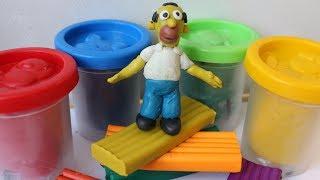 Симпсоны.  Лепим Гомера. # 1 Homer Simpson из пластилина