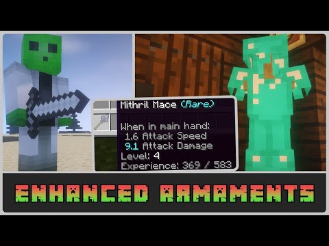 Minecraft: Weapon and Armour Levelling! Enhanced Armaments 1.12.2 Mod Showcase