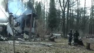 Пожар в доме академика Павлова во Всеволожском районе