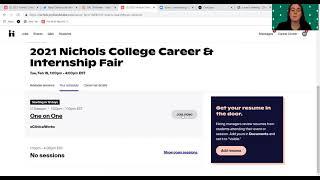 REGISTER, SUIT UP, & GET READY! 2021 Nichols College Career & Internship Fair thumbnail image