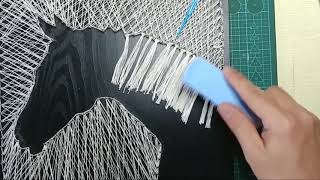 DIY String Art  |PASTEL PICTURE |  TUTORIAL  |Wall Decor |horse| Simple | Easy Pinterest Designs