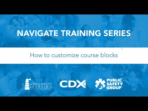 How to Customize Course Blocks - YouTube