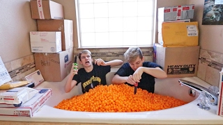 INSANE BATHTUB FULL OF CHEESEBALLS FANMAIL OPENING!