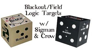 Blackout & Field Logic 6x6 Archery Targets. 👍🏼
