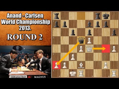Is Carlsen the Toughest Opponent? | Anand vs Carlsen 2013. | Game 2