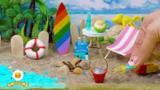 11 EASY DIY MINIATURE REALISTIC BEACH ITEAMS FOR SUMMERTIMES FOR BARBIE DOLLHOUSE