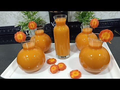 عصير الجزر مع إضافات يرجعوه بنتو بنة😋ميتشبعش كيلو جزر يخرجلك 3لتر عصير
