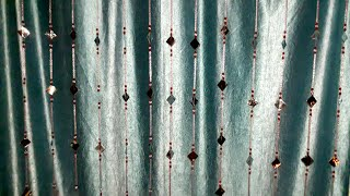 EASY Door Curtain Making At Home || Beaded Door Curtains