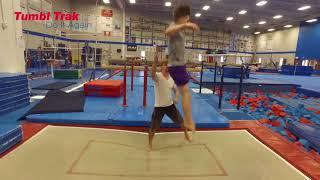 Trampoline Gymnastics Tutorial -  Teaching the Proper Crashdive