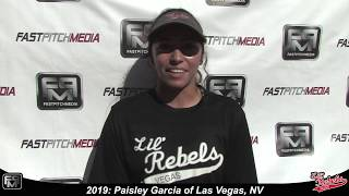 2019 Paisley Garcia Pitcher and Shortstop Softball Skills Video - Lil Rebels Las Vegas