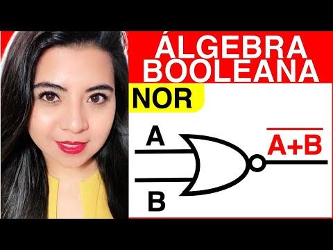 ÁLGEBRA BOOLEANA  (Compuertas lógicas NOR)