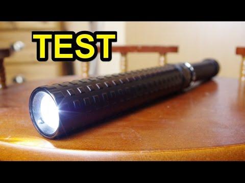 """Günstige LED Taschenlampe """"Schlagstock"""" im Test !"""