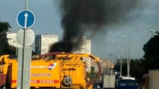 Авария с возгоранием волоколамское шоссе 25.07.2017