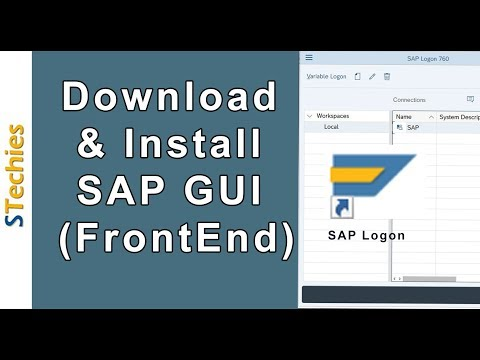 SAP GUI (FrontEnd) Download, Install & Configure for Windows ...