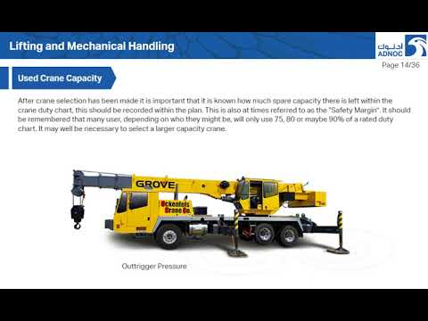 Lifting and Mechanical Handling
