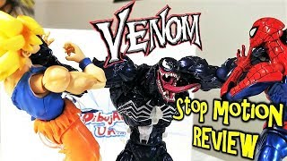 Goku y Spiderman vs VENOM Stop motion. Épica Review Venom Amazing yamaguchi 03. Action video Film
