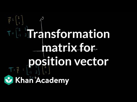 Transforming vectors using matrices (video)   Khan Academy