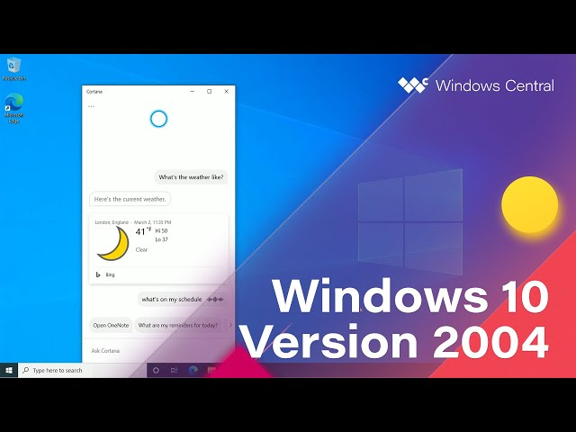 Windows 10 May 2020 Update Official Release Demo Version 2004