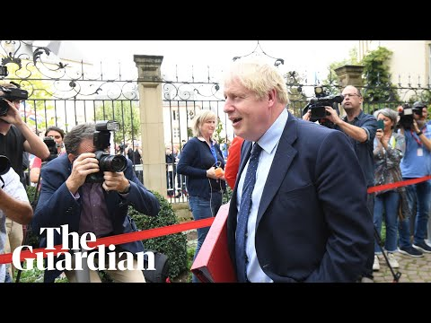 Boris Johnson skips press conference with Luxembourg PM amid loud booing by protesters