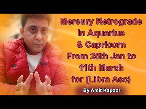 Mercury Retrograde in Aquarius ♒ & Capricorn ♑ From 25th Jan to 11th March for (Libra Asc) By #ASTROLOGERAMITKAPOOR