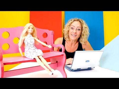 Nicoles Arbeitsagentur. Barbie sucht einen Job. Spielzeugvideo für Kinder
