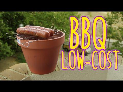 Cómo hacer una barbacoa low cost con una maceta