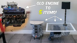 Turning My Old Engine Into 5 HOUSEHOLD ITEMS!