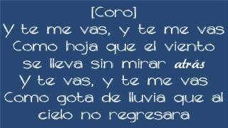 Prince Royce - Te Me Vas (Lyrics)