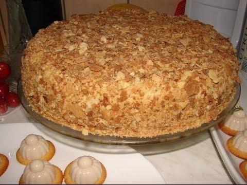 Оригинальный торт Наполеон (за пол часа).