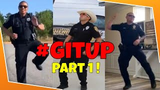 👮These Police Officers KILL the GIT UP Dance Challenge! #GitUpChallenge