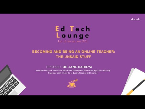 Becoming and being an online teacher: The unsaid stuff | Ed Tech Lounge