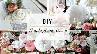 Thanksgiving Table Setting Decor - Enchanted Forest Theme | DIY Fall Wedding | Dollar Store Goodies!