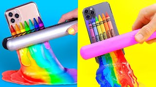 TRYING 12 FUNNY PRANKS AND LIFE HACK WITH CRAYONS By 5 Minute Crafts
