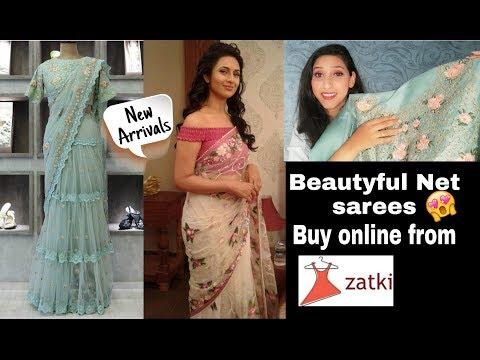 *New Arrivals*Frill Butterfly net sarees//Affordable sarees//Party wear sarees//zatki.com