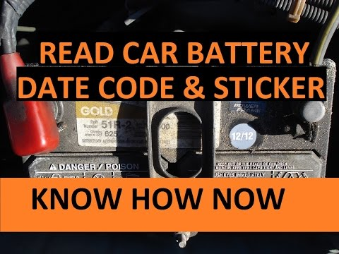 How Old is Car Battery? Read Car Battery Date Code