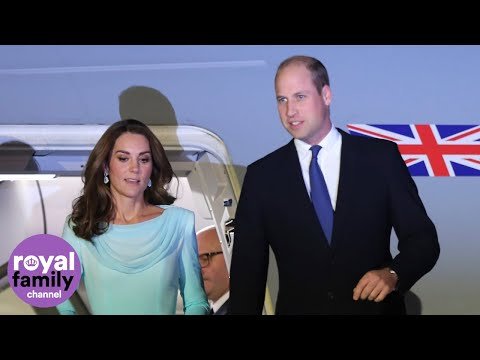 Duke and Duchess of Cambridge touch down in Pakistan