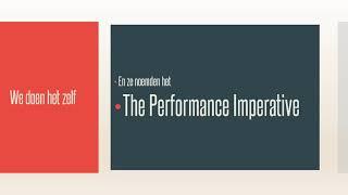 Een model voor de Non Profit: The Performance Imperative