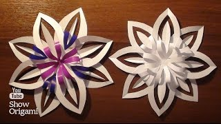 Как сделать красивую объемную снежинку из бумаги своими руками