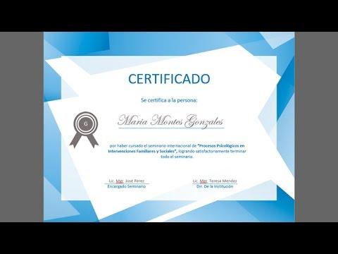 Ejemplo de certificado en Word